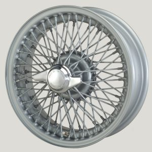 "5½"" x 14"" 72 Spoke Silver Painted Wire Wheel - Classic Spares"