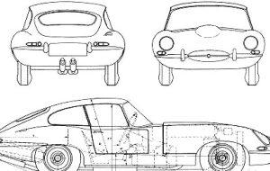 Jaguar E-Type Line Drawing - Jaguar E-Type Tailor-Made Indoor Car Cover - Classic Spares