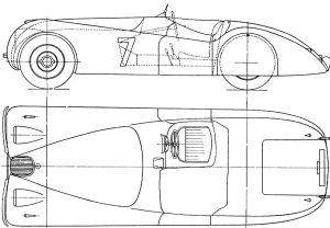 Jaguar XK Line Drawing - Jaguar XK Tailor-Made Indoor Car Cover - Classic Spares