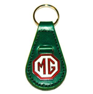 MG 1950's Design Slimline Teardrop Key Fob - Green - Classic Spares