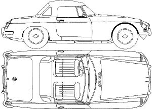 MGC Line Drawing - MGC Indoor Tailor-made Car Cover Classic Spares