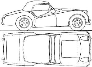 Triumph Line Drawing - Triumph TR Tailor-Made Indoor Car Cover - Classic Spares