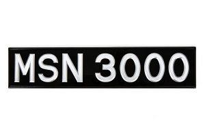 """3 ⅛"""" Silver Raised Digit Number Plate - Classic Spares"""