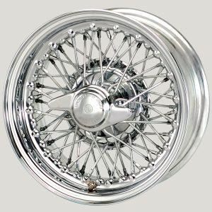 """5 ½"""" x 13"""" 60 Spoke Chrome Wire Wheel - Classic Spares"""