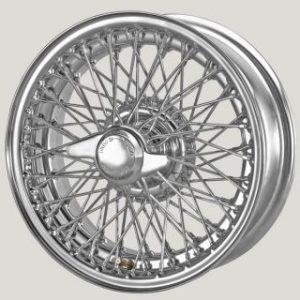"""5½"""" x 14"""" 72 Spoke Chrome Wire Wheel - Classic Spares"""