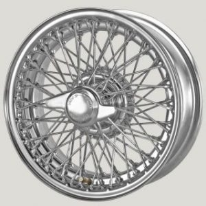 "5½"" x 15"" 72 Spoke Chrome Wire Wheel - Classic Spares"