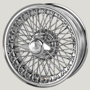 """5"""" x 15"""" 72 Spoke Chrome Wire Wheel - Classic Spares"""