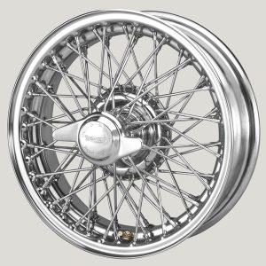 """4½"""" x 15"""" 60 Spoke Chrome Wire Wheel - Classic Spares"""