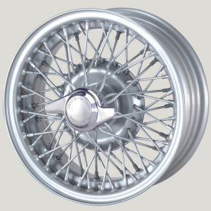 """5"""" x 13"""" 60 Spoke Silver Painted Wire Wheel - Classic Spares"""