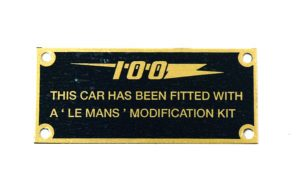 100M Cold Air Box Plaque - Classic Spares