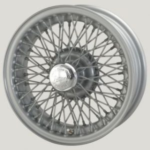 "5"" x 15"" 72 Spoke Silver Painted Wire Wheel - Classic Spares"