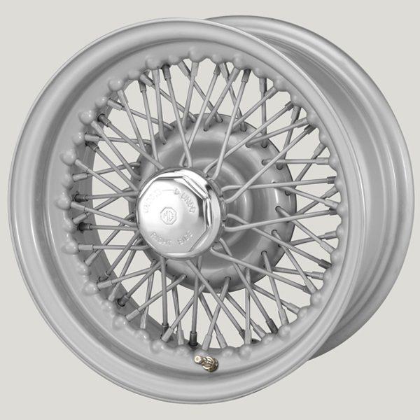 """5.5"""" x 13"""" 60 Spoke Silver Painted Wire Wheel"""
