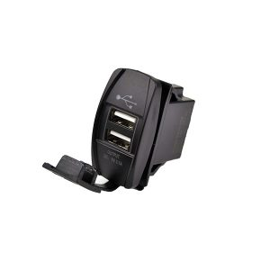 Durite Fast Charge 2 USBs Socket- 12/24V